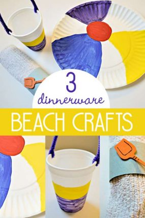 3 Sizzlin' Beach Crafts for Kids to Make for Dinnerware