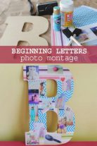 Photo montage about beginning letters as a craft for kids to make
