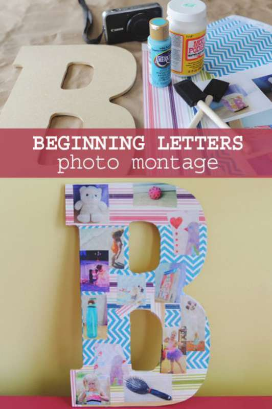 Photo Montage Craft For Kids To Learn Beginning Letters Hands On