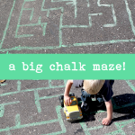 A Big Chalk Maze for Preschoolers
