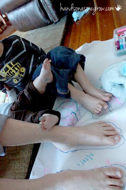 big versus small - big feet versus small feet