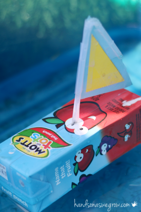 Boat craft for kids to make from juice boxes