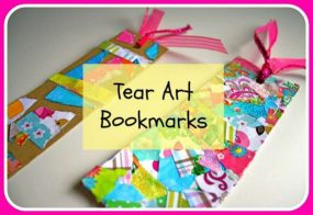 Making a Bookmark with Tear Art