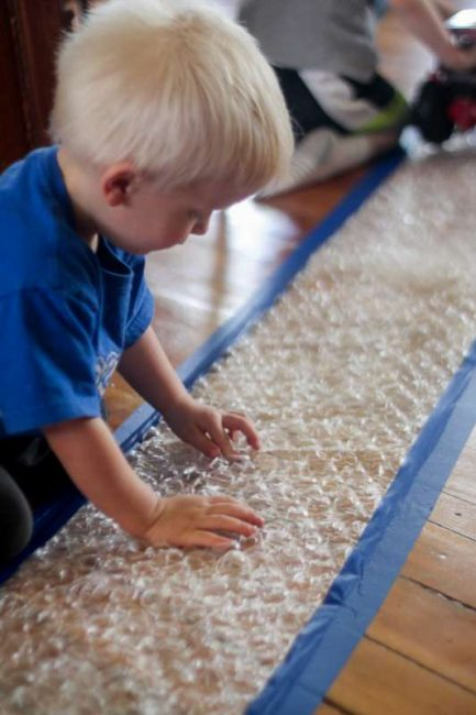 Bubble wrap runway