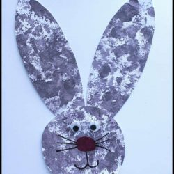 Bunny Tail Pom Pom Painting from House of Burke