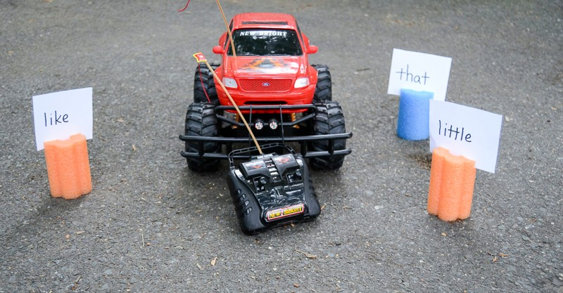 Fun sight word activity for vehicle loving kids