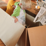 The Kids Went Dumpster Diving… in a Cardboard Box!