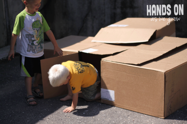 Make a Cardboard Box into a Dumpster to Find Treasures