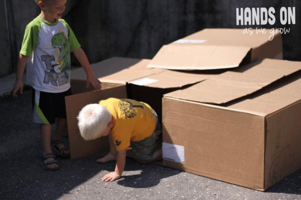 Or make a cardboard box house.