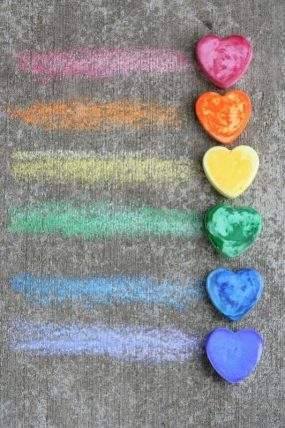 Make Your Own Sidewalk Chalk from Fun at Home with Kids