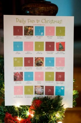Make this Christmas joyful and fun with a Christmas Activity Countdown!