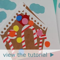 Homemade Christmas GIngerbread House Card
