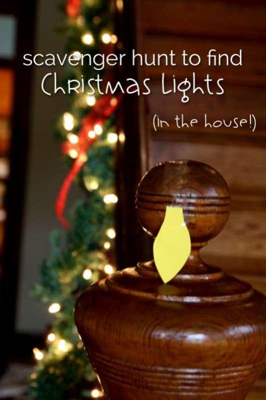 christmas light scavenger hunt in the house