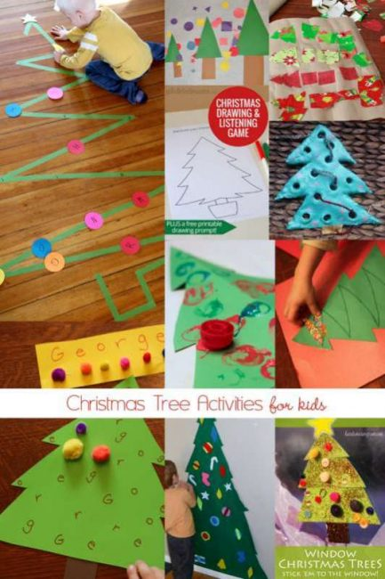 Christmas tree activities for kids to do