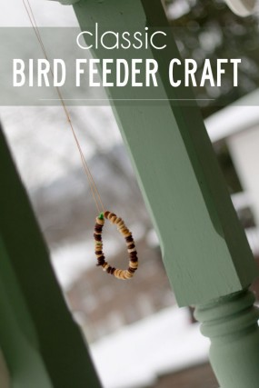 Classic bird feeder craft great for fine motor skills