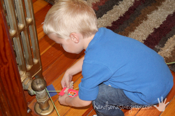 Find letters along the way indoor scavenger hunt for kids
