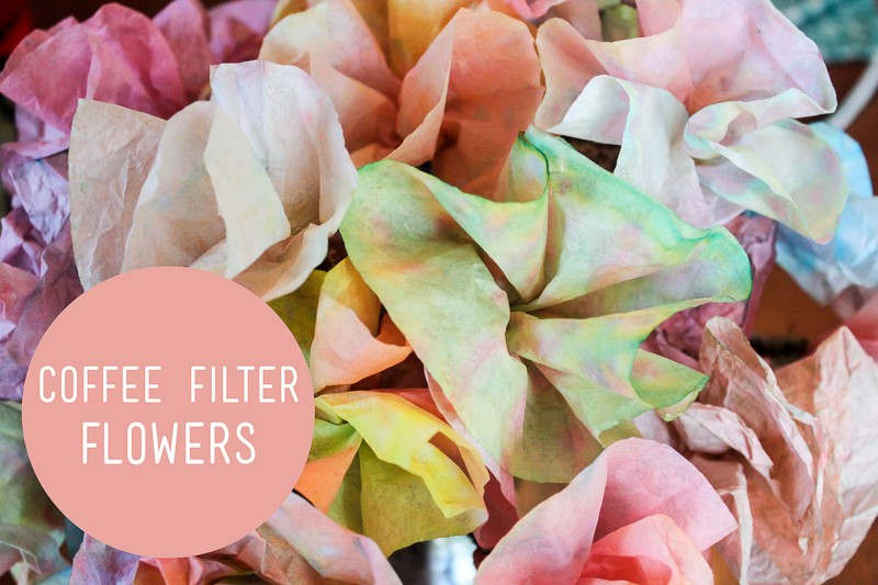 Colored coffee filter flowers for kids to make hands on as we grow colored coffee filters flowers for the kids to make mightylinksfo