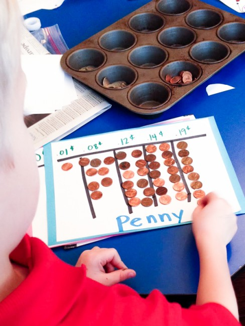 Counting coins - 3 easy money activities for 2 to 6 year olds