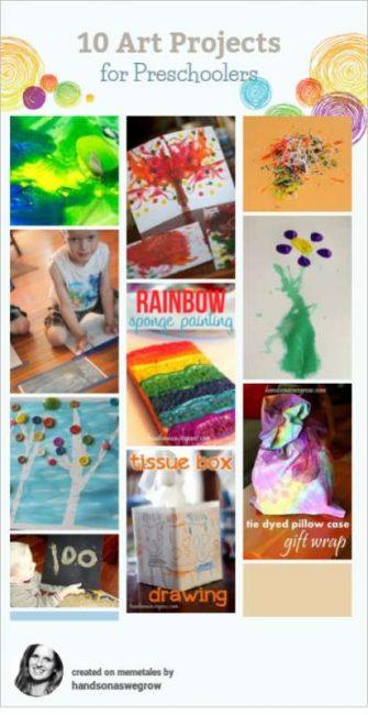creative arts project of preschoolers