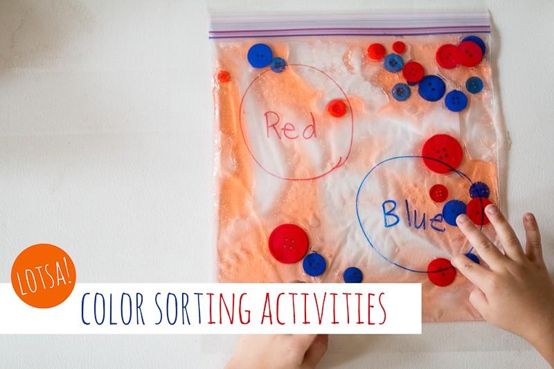 lotsa color sorting activities for preschoolers