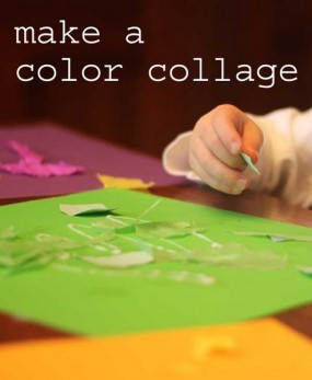 Make a color collage for learning colors