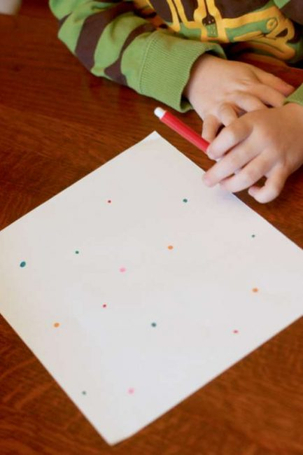 Just dots for a connect the dots for preschoolers version