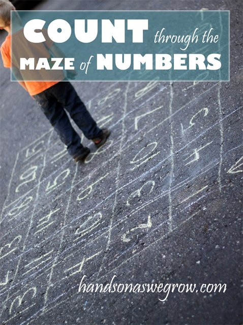 Counting Maze of Numbers Math Activity