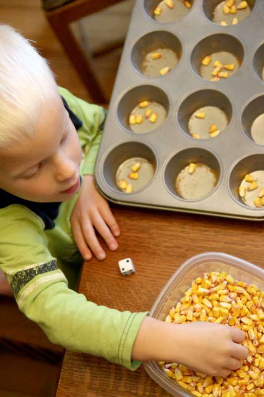 One To One Correspondence Activity With Corn Kernels