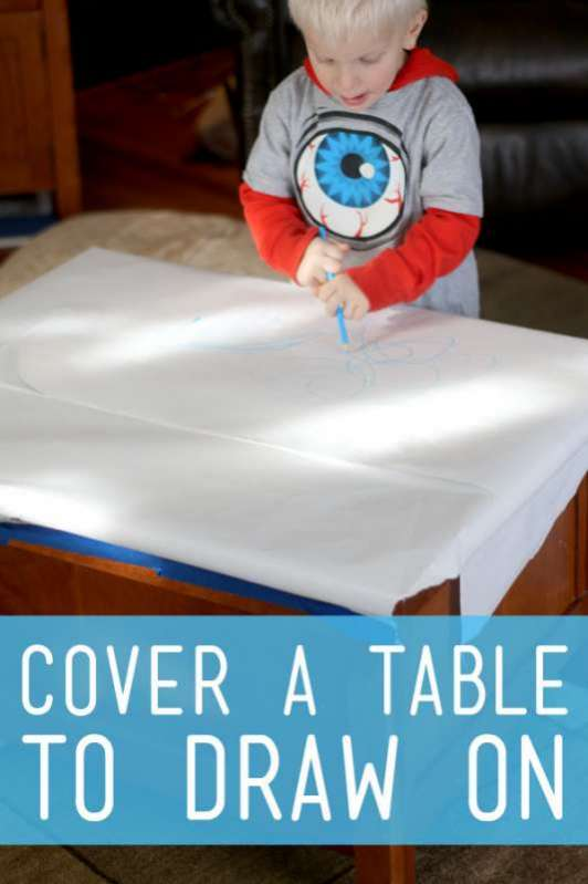 Simple Art Prompt: Drawing on the Table