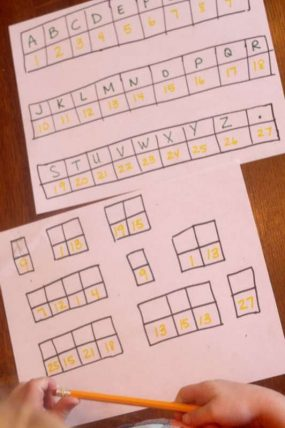 Crack the secret code, simple for kids learning to read