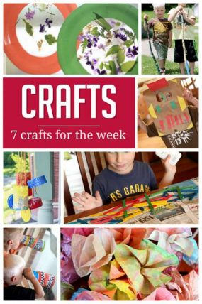 A Sample Weekly Plan of Crafts for Kids