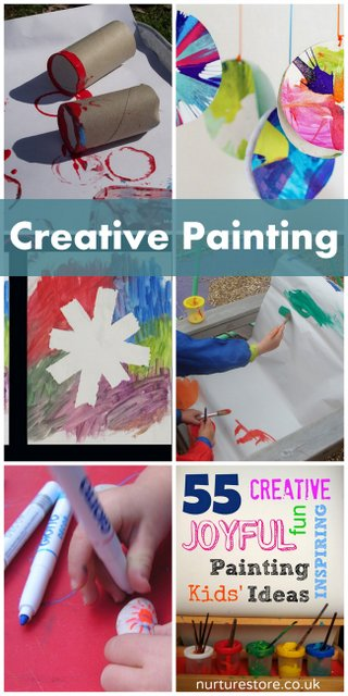 6 Creative Painting Ideas on It's Playtime! - hands on : as we grow