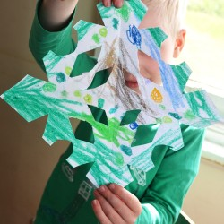 Kids Art Snowflakes