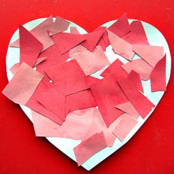 Mosaic Heart Valentine Craft