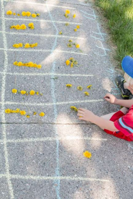Counting dandelions in a race