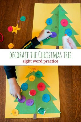 Decorate the Christmas Tree with Sight Words