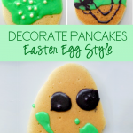 Decorating Pancakes Easter Egg Style