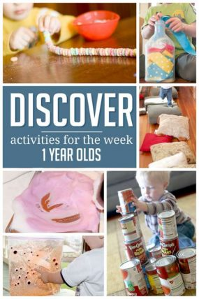 A week of simple activities to do with 1 year olds
