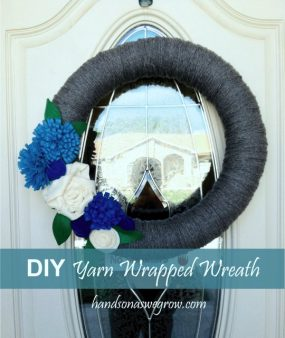 DIY Yarn Wrapped Wreath