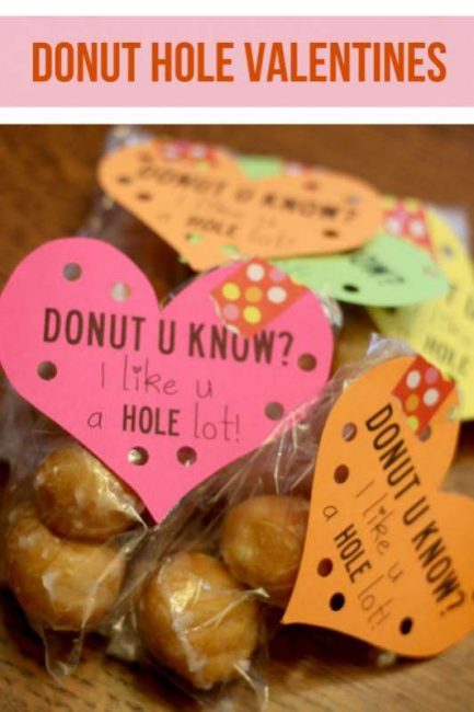 FREE Donut Hole Valentine PRINTABLE -- Donut U Know?