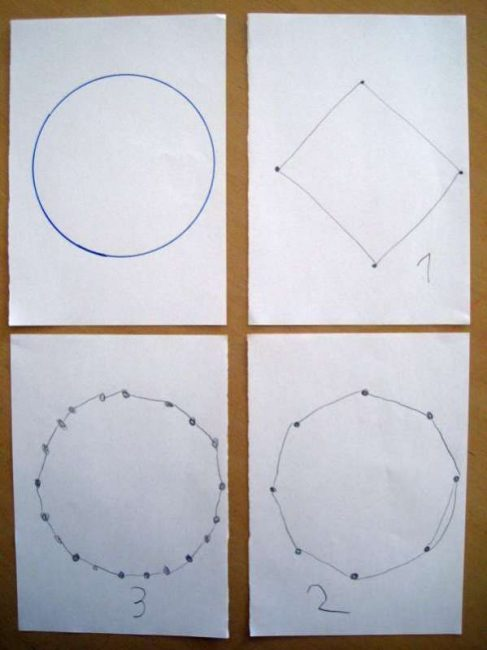 How many dots should a circle have?
