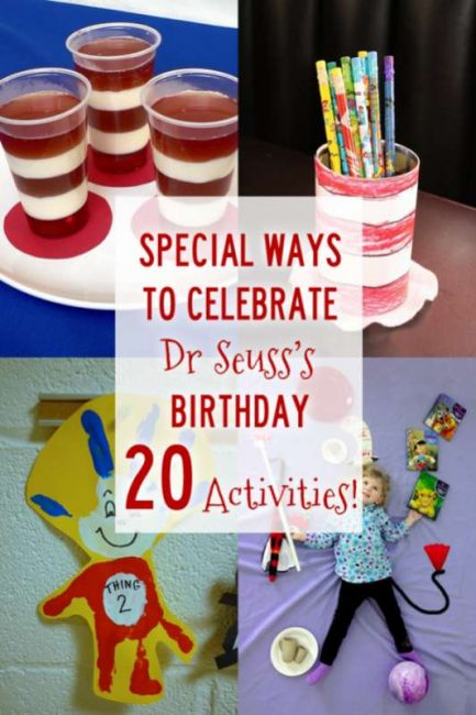 Special ways to celebrate Dr. Seuss's Birthday. 20 Cat in the Hat activities!