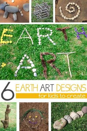 Earth Art Designs for Kids to Make