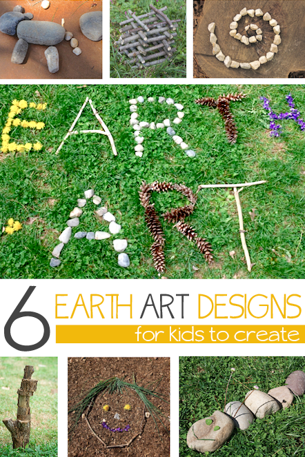 Boredom Busters for kids - earth art