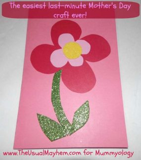 The easiest last-minute Mother's Day craft idea! from The Usual Mayhem via Mummyology