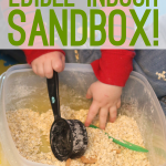 Edible Indoor Sandbox That's Simple & Fast to Make!