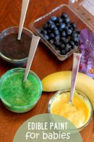 Edible paint for babies - made with real fruit!