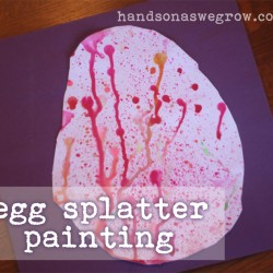 Egg Splatter from hands on : as we grow