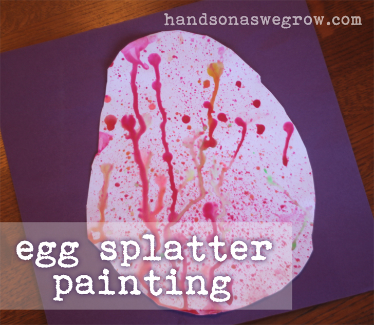 Egg Splatter Painting for Easter