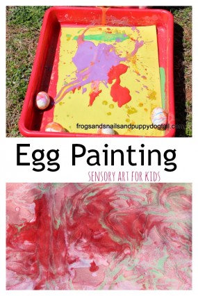 Egg Painting from Frogs and Snails and Puppy Dog Tail